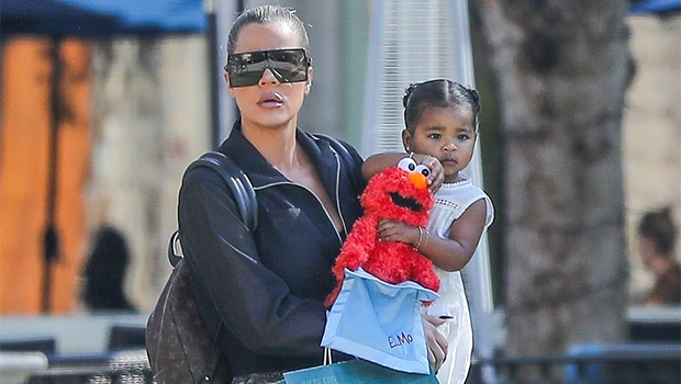 Khloe Kardashian & True Thompson out & about