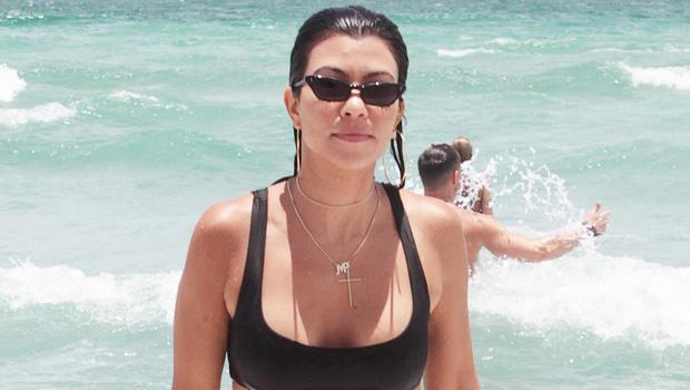 Kourtney Kardashian on the beach