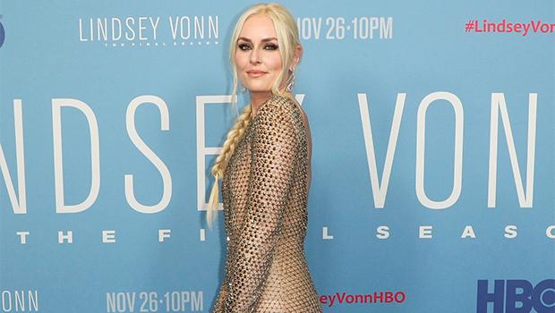 Lindsey Vonn Sheer Gown Movie Premiere Mesh Pics