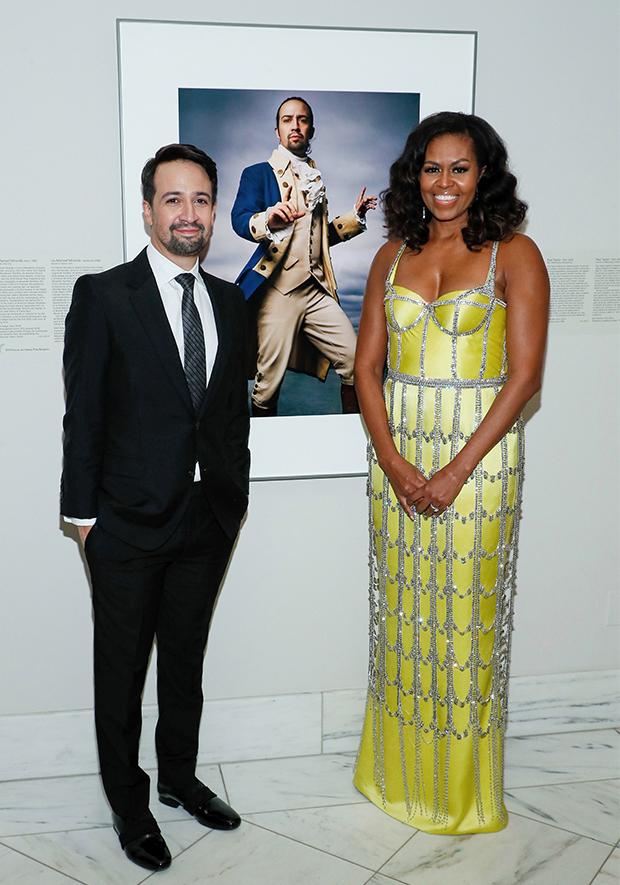 Michelle Obama Lin-Manuel Miranda