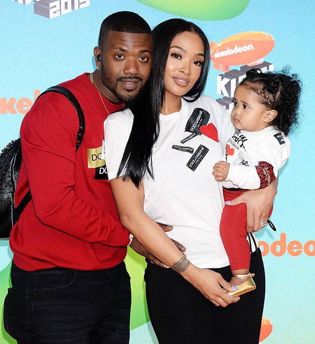 Princess Love, Ray J & daughter at Kids Choice Awards