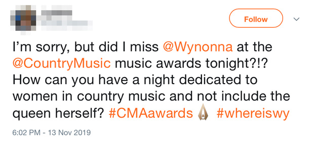 Wynonna CMA Awards 2019