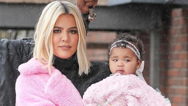 khloe kardashian true thompson faux fur coat