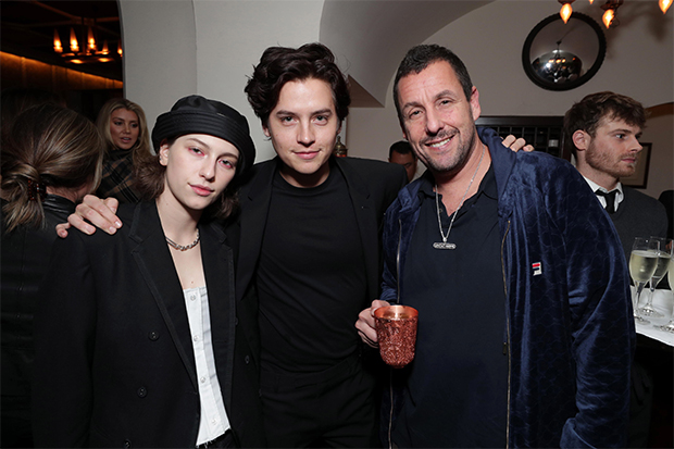 Adam Sandler & Cole Sprouse at 'Uncut Gems' premiere