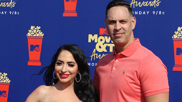 Angelina Pivarnick & husband on the red carpet
