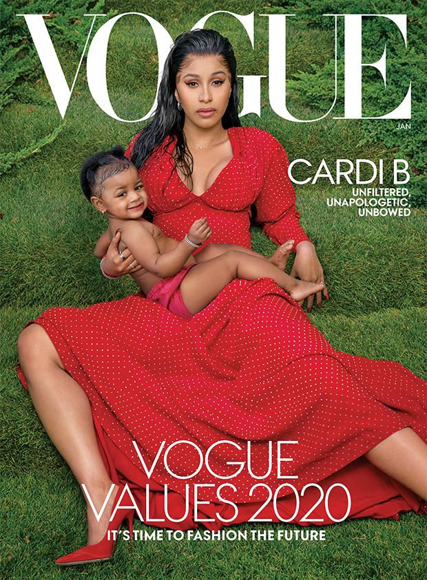 Cardi B & Kulture Cover Vogue Jan. 2020