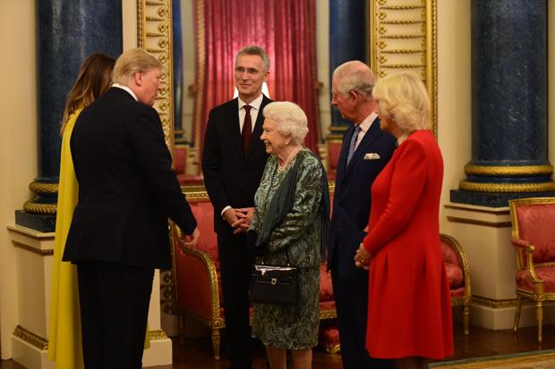 Donald Trump, Queen Elizabeth, Prince Charles, Camilla