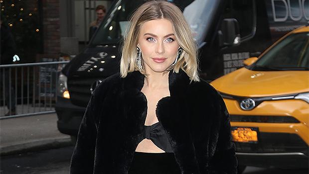 Julianne Hough in black fur