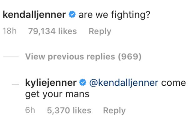 kendall jenner kylie jenner joke fighting