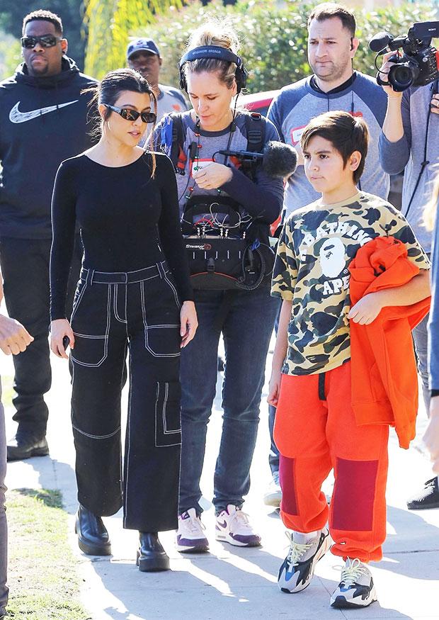 Kourtney Kardashian filming 'KUWTK'