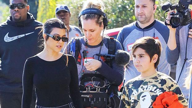 Kourtney Kardashian filming 'KUWTK' with Mason in Long Beach, CA