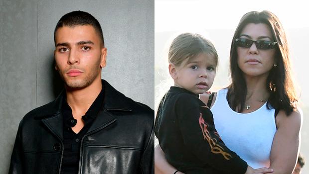 Younes Bendjima & Kourtney Kardashian with son Reign Disick