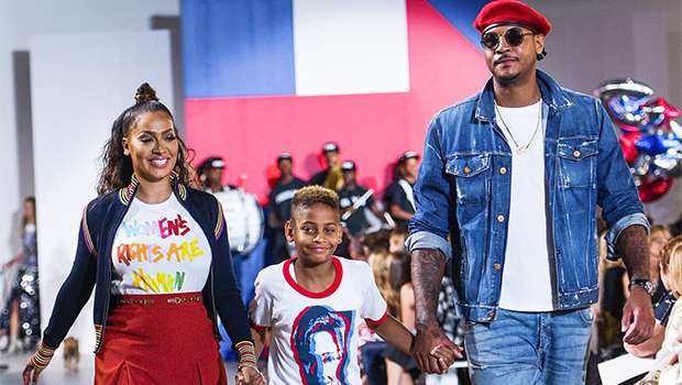 La La & Carmelo Anthony with son, Kiyan