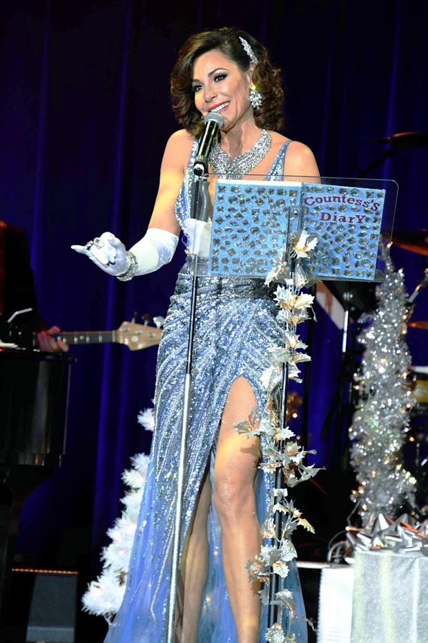 Luann de Lesseps Christmas Show At Borgata Hotel Casino & Spa