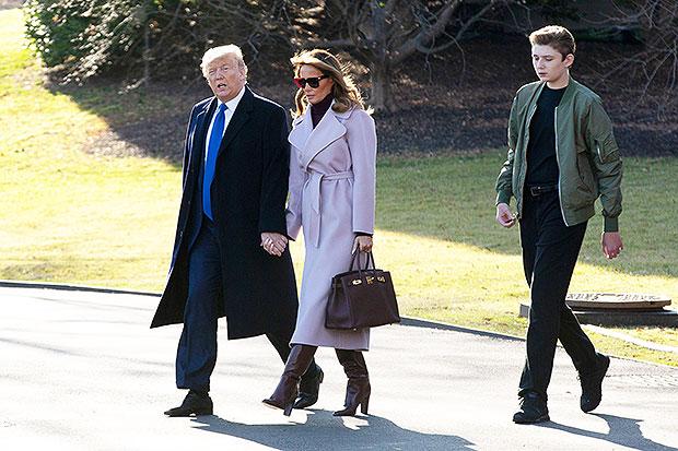 Barron Trump, Donald Trump, Melania Trump