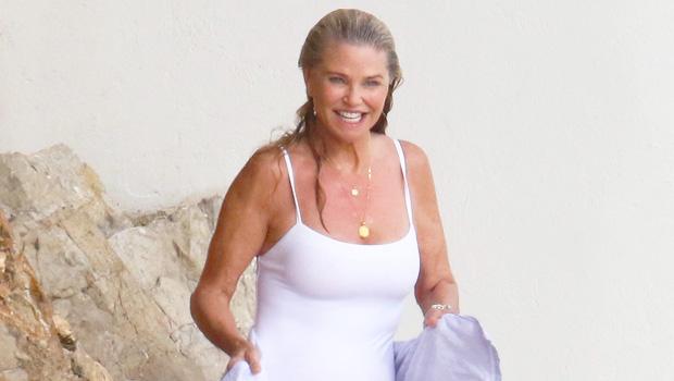 Christie Brinkley on the beach