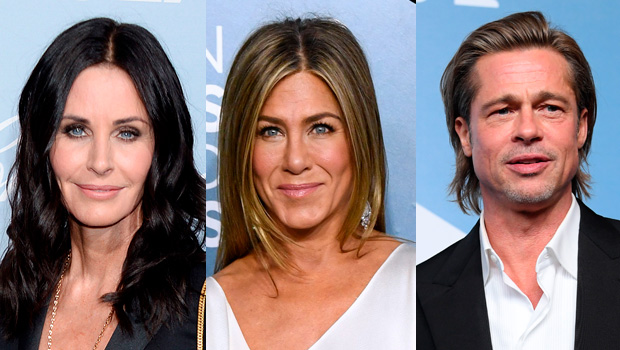 Courteney Cox, Jennifer Aniston, Brad Pitt