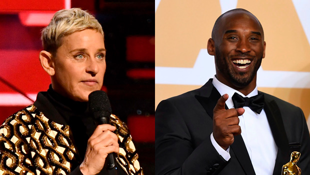 Ellen DeGeneres and Kobe Bryant