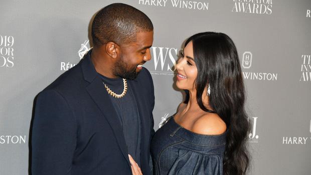 Kim Kardashian & Kanye West on the red carpet