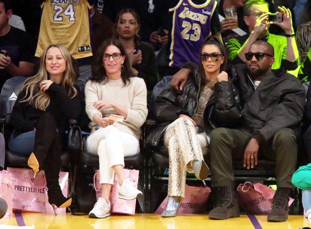 Kim Kardashian, Kanye West, Courteney Cox