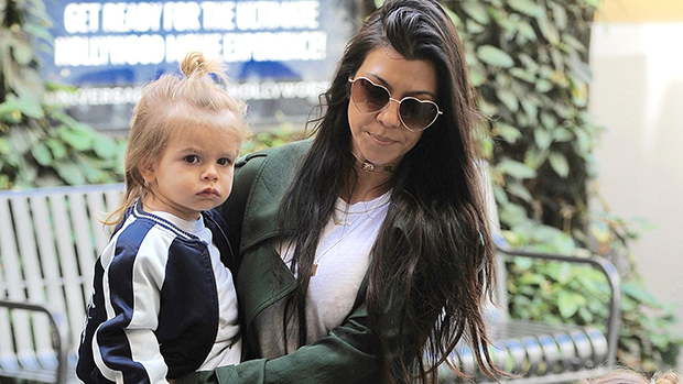 Kourtney Kardashian out with her kids