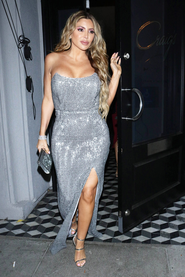 Larsa Pippen in silver while out in LA