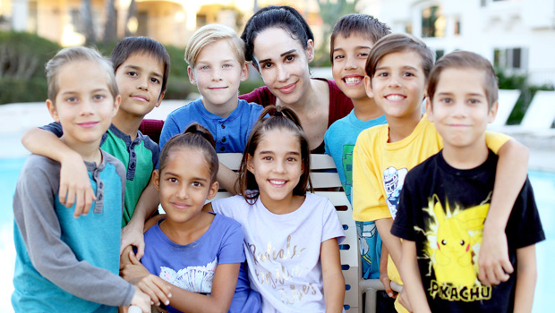 Nadya Suleman and her octuplets