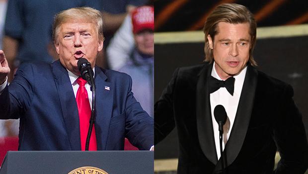 Donald Trump and Brad Pitt