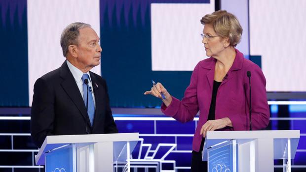 Elizabeth Warren Mike Bloomberg