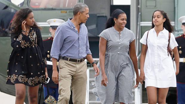 Michelle Obama, Barack Obama, Malia Obama, Sasha Obama
