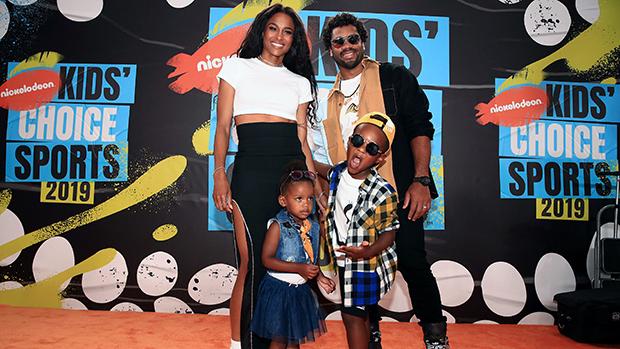 Ciara & Russell Wilson & their kids