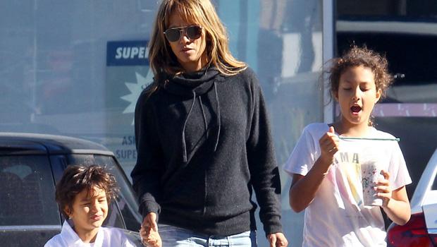 Halle Berry Son Maceo Wears Heels