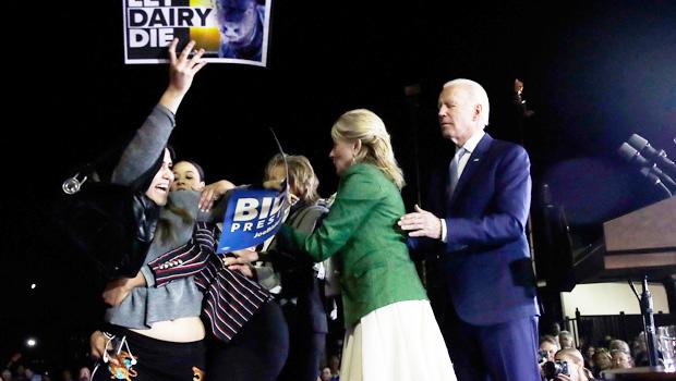 Jill Biden Fights Protestors