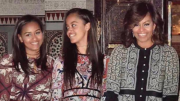 Michelle Obama Sasha Obama Malia Obama