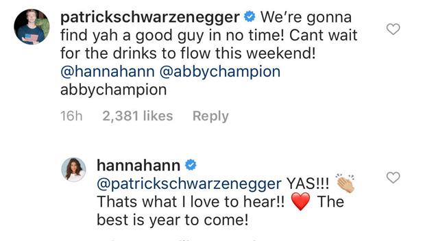 Patrick Schwarzenegger, Hannah Ann Sluss