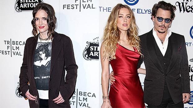 Winona Ryder, Johnny Depp, Amber Heard