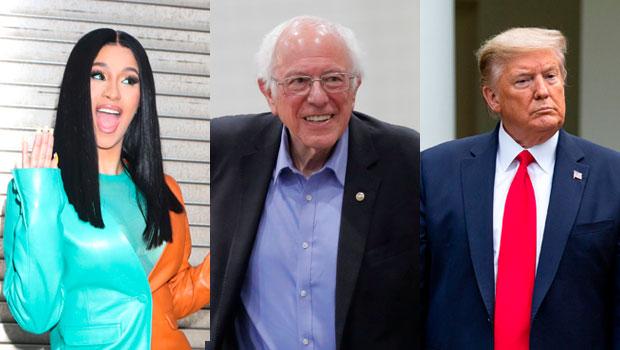 Cardi B, Bernie Sanders, Donald Trump