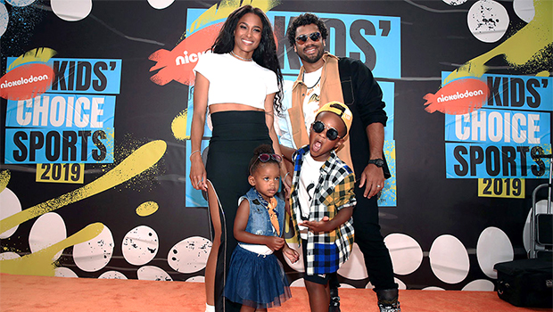 Ciara & Russell Willams on the red carpet with their kids