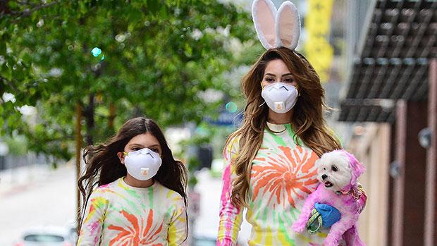 Farrah Abraham & daughter on Easter