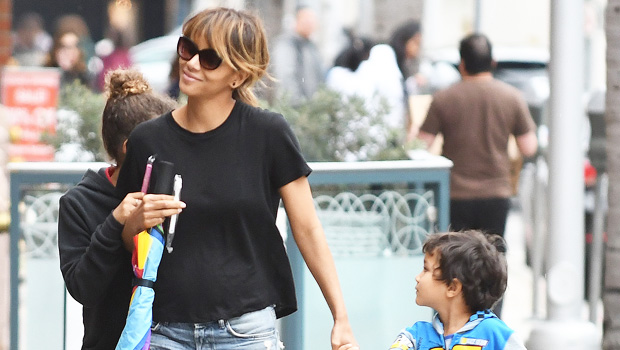 Halle Berry son workout equipment