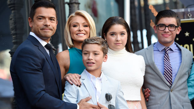 Kelly Ripa & family on the red carpet
