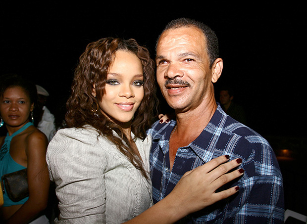 Rihanna and her dad Ronald Fenty