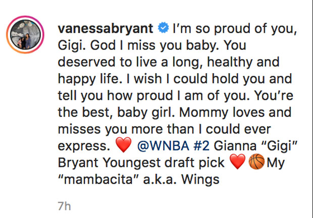 Vanessa Bryant, Gianna Bryant