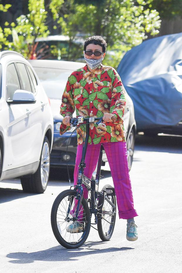 Alia Shawkat on a bike ride in LA