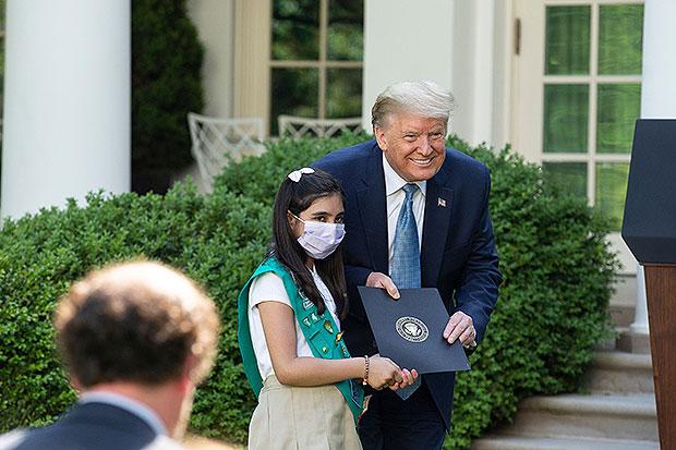 Donald Trump & a Girl Scout