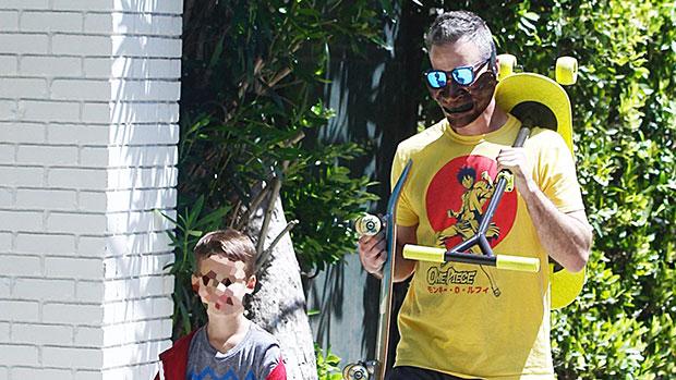 Freddie Prinze Jr. & son in Pacific Palisades, CA