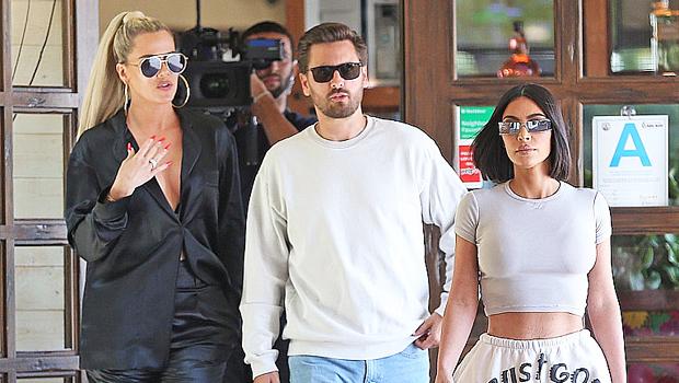 Khloe & Kim Kardashian with Scott Disick