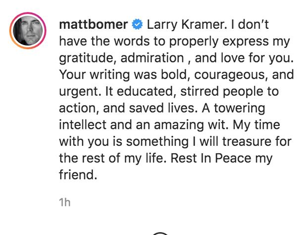 Matt Bomer Instagram