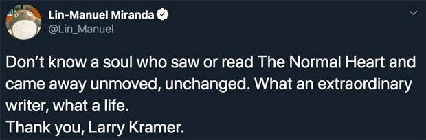 Lin-Manuel Miranda Tweet