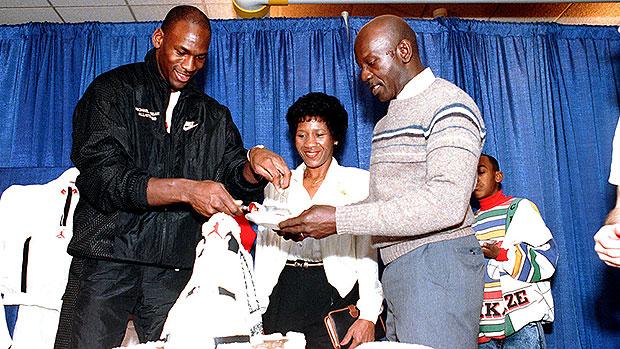 Michael Jordan & his parents